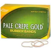 "Alliance® Pale Crepe Gold® Rubber Bands, Size # 19, 3-1/2""x 1/16"", Natural, 1 lb. Box"