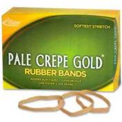 "Alliance® Pale Crepe Gold® Rubber Bands, Size # 64, 3-1/2"" x 1/4"", Natural, 1 lb. Box"