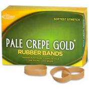 "Alliance® Pale Crepe Gold® Rubber Bands, Size # 82, 2-1/2"" x 1/2"", Natural, 1 lb. Box"
