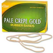"Alliance® Pale Crepe Gold® Rubber Bands, Size # 117B, 7"" x 1/8"", Natural, 1 lb. Box"
