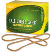 "Alliance® Pale Crepe Gold® Rubber Bands, Size # 117B, 7"" x 1/8"", Natural, 1/4 lb. Box"