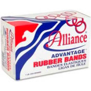 "Alliance® Advantage® Rubber Bands, Size # 8, 7/8"" x 1/16"", Natural, 1 lb. Box"