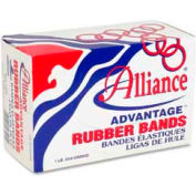 "Alliance® Advantage® Rubber Bands, Size # 33, 3-1/2"" x 1/8"", Natural, 1 lb. Box"