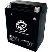 AJC Battery Kawasaki KL650-A E KLR 650CC Motorcycle Battery (1987-2017), 14 Amps, 12V, B Terminals