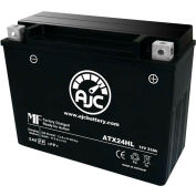 AJC Battery Ducati Twin 350CC Motorcycle Battery, 23 Amps, 12V, I Terminals