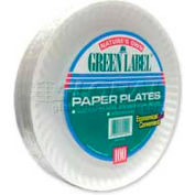 "AJM Packaging Corp® AJMPP9GRA, Paper Plates, 9"" Dia., White, 1200/Carton"