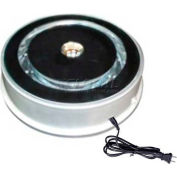 """Electrical Turn Table, 7-3/4""""Dia. x 2-1/4""""H, Load Capacity: 20 Lbs"""