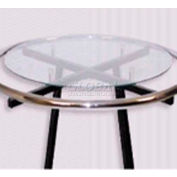 "Glass, 3/16"" Dia., Round, For 36"" Round Rack, Temper, Clear - Pkg Qty 2"