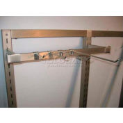 """9"""" Hangrail Hook For Slotted Wall, Satin Nickle - Pkg Qty 100"""