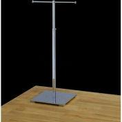 "Single Jewelry Stand, Adjustable, 14""-24"" H, Metal, Chrome"