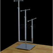 "3-Tier Jewelry Stand, Adjustable, 11""-18"", 15""- 25"" & 18""- 29"" H, Metal, Chrome"