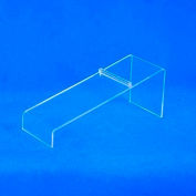 """Shoe Display, 8""""W x 3""""H, 3/32"""" Thickness, Acrylic, Clear - Pkg Qty 5"""