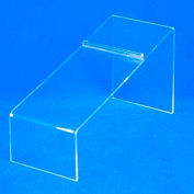 "Shoe Display, 8-1/4"" L x 4"" H, 3/32"" Thickness, Acrylic, Clear"