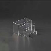 "Display Riser, Set Of 3, 2-3/4""- 3-3/4"" L x 2"" W x 1-1/4""- 2-1/5"" H, Acrylic, Clear"