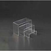 "Display Riser, Set Of 3, 2-3/4""- 3-3/4"" L x 2"" W x 1-1/4""- 2-1/5"" H, Acrylic, Clear"