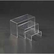 "Display Riser, Set Of 3, 5-1/4""- 7-1/4"" L x 4"" W x 2-1/5""- 4-1/2"" H, Acrylic, Clear"