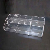 "Counter Top Display, 16"" L X 8"" W X 4-5/8"" H, Acrylic, Clear - Pkg Qty 6"