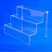 "Riser Set, 12"" L x 9"" W x 9"" H, 1/8"" Thickness, Acrylic, Clear - Pkg Qty 6"