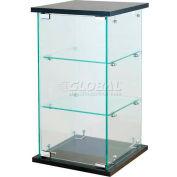 """Frameless Glass Showcase, Counter Top, 13""""W x 13""""D x 24""""H"""