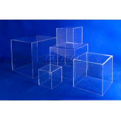 "Acrylic 5 Sided Cubes, 10"" x 10"" x 10"", 3/16"" Thickness, Clear"