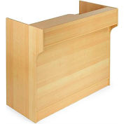 "Top Register Stand W/Adj. Rear Storage 72""W x 22""D x 42""H Maple"