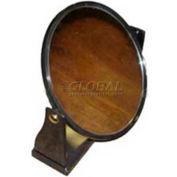 "MIRROR-E07, Single Sided Mirror, Round, 8-1/2"" H, Plastic, Black"