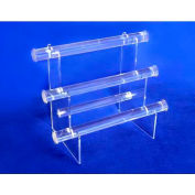 "Acrylic Necklace & Bracelet Display, 3 Tier, 1"" Diameter Bar - Pkg Qty 5"