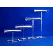 "Acrylic Necklace & Bracelet Display, 2"" Diameter Tubing Bar, 12""L, 11-3/8""H - Pkg Qty 5"