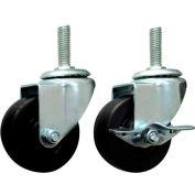 "Non-Locking Caster for PL Pipe Rack System 3"" Diameter"