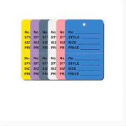 """Price Tag, Garment Type, Perforated 2-3/4""""W x 1-3/4""""H, 1,000 pcs - Yellow"""
