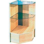 Pentagonal Corner With Glass, Cherry
