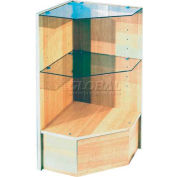 Pentagonal Corner With Glass, White