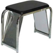 "Shoe Bench, W/ Mirror, 30"" L x 14"" W x 19"" H, Metal, Black/Chrome"
