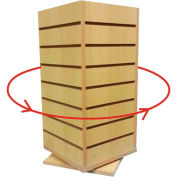 "Slat Wall Countertop Spinner - 4 Side 12""W x 12""D x 25""H - Maple"