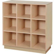 "Island Cube Display, Single Side 38""W x 18""D x 42""H, 18 Cubes - Maple"