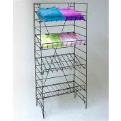 Wire Display Rack, Black, 4 Shelves