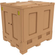 "Buckhorn Intrepid™ Collapsible Bulk Container BZ48404600YC100 - 48""L x 40""W x 46""H, Beige"