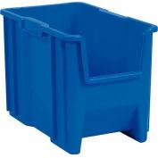 """Plastic Stack-N-Store AkroBin® 13014 - 10-7/8""""W X 17-1/2""""D X 12-1/2""""H, Blue - Pkg Qty 4"""