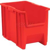 """Plastic Stack-N-Store AkroBin® 13014 - 10-7/8""""W X 17-1/2""""D X 12-1/2""""H, Red - Pkg Qty 4"""
