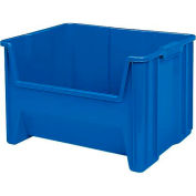 """Plastic Stack-N-Store AkroBin® 13017 - 19-7/8""""W X 15-1/4""""D X 12-7/16""""H, Blue - Pkg Qty 3"""