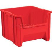 """Plastic Stack-N-Store AkroBin® 13018 - 16-1/2""""W X 17-1/2""""D X 12-1/2""""H, Red - Pkg Qty 2"""