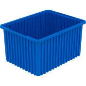 Akro-Mils Akro-Grid Dividable Container 33222 22-1/2 x 17-1/2 x 12 Blue - Pkg Qty 3