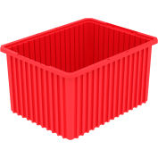 Akro-Mils Akro-Grid Dividable Container 33222 22-1/2 x 17-1/2 x 12 Red - Pkg Qty 3