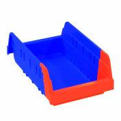 Akro-Mils Indicator® 36462 Two Tone Double Hopper Plastic Shelf Bin 6-3/4 x 11-5/8 x 4 - Pkg Qty 12