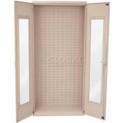 "Akro-Mils AC3618QV Quick-View Cabinet w/Louvers On Back No Bins,Assembled,36""Wx18""Dx78""H,Beige"