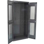 """Akro-Mils AC3618SV Secure-View Cabinet w/Louvers On Back No Bins,Assembled,36""""Wx18""""Dx78""""H,Gray"""