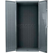 "Akro-Mils AC3624 Steel Cabinet w/Louvers On Back And Doors, No Bins, Assembled, 36x24x78"" Gray"