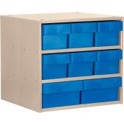 Akro-Mils Super Modular Cabinet AD1811P82BLU Putty w/ 6 Blue Akrodrawers 18 x 11 x 16-1/2