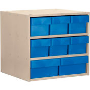 Akro-Mils Super Modular Cabinet AD1811P82GRY Putty w/ 6 Grey Akrodrawers 18 x 11 x 16-1/2