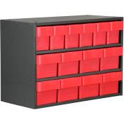 Akro-Mils Super Modular Cabinet AD2311P62GRY Putty w/ 12 Grey Akrodrawers 23 x 11 x 16-1/2